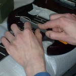 Reparatie instrumenten: vlakken van fretten.