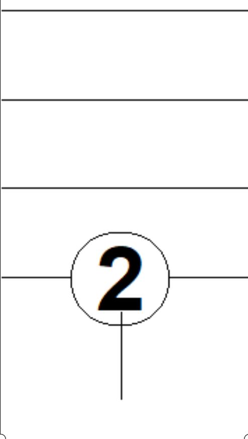 Afbeelding van en 2 tellen durende toon in TAB