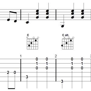 afbeelding bij relax song flatpicking gitaar akkoorden uitgewerkt
