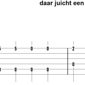 afbeelding bij gitaartab daar juicht een toon fingerstyle eenvoudig