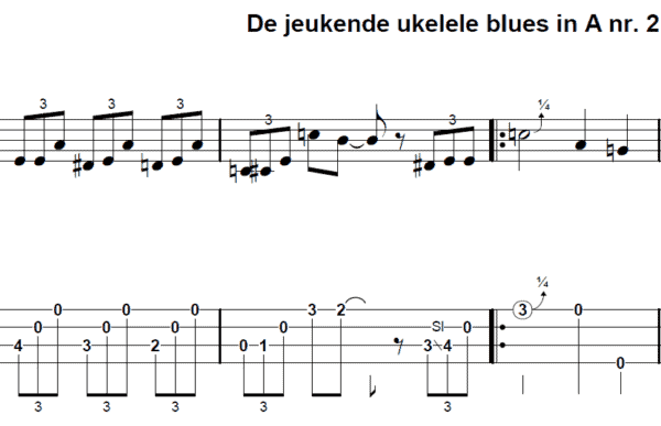 afbeelding de jeukende ukelele blues in A nr 2