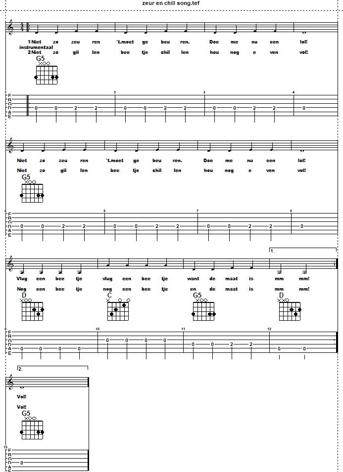 Schermafbelding van Play along gitaar: De maat is vol!