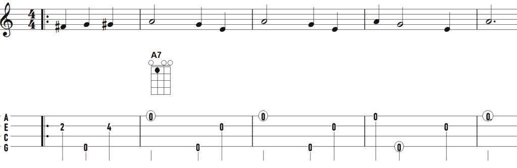 afbeelding van ukelele solo molenlanden jubilee eerste stukje
