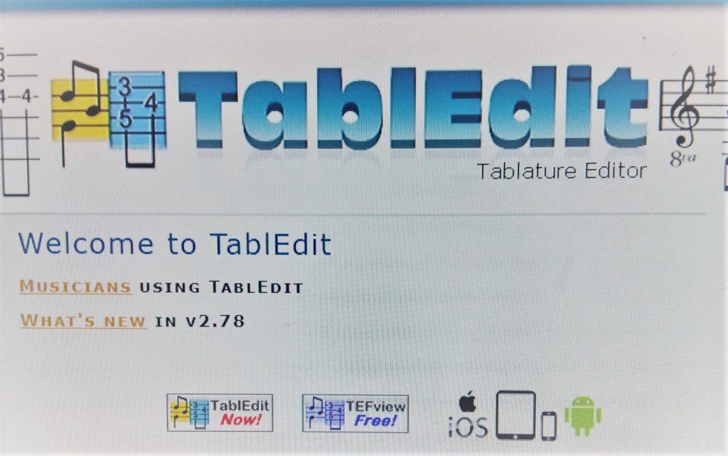 Met TablEdit maak je o.a. gitaartabs die je ook kunt afspelen